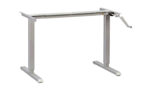 Handle Cranked Height Adjustable Compuer Desk Frame (LDG-CD204) pictures & photos
