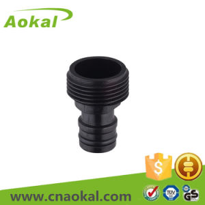"3/4"" Plastic Black Pipe Fitting Male Tap Adaptor pictures & photos"