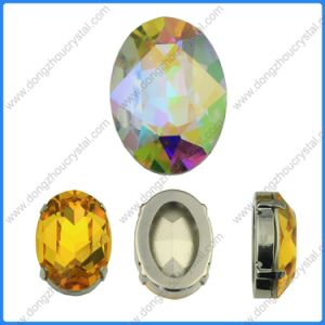 Oval Shape Point Back Rhinestone Crystal Stone (DZ-3002) pictures & photos
