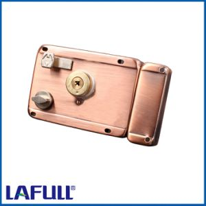 210AC6 Iron Lock Case Brass Cylinder Door Rim Lock