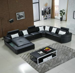 Sectional Sofa U Shaped Sectional Sofa Used Leather Sofa pictures & photos