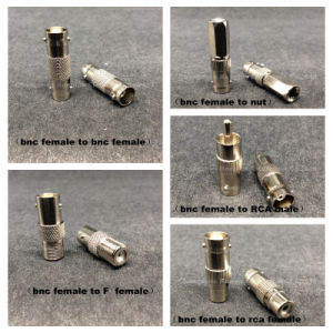 Coaxial BNC F Male to RCA Female RF F Connector pictures & photos