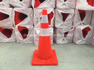 Uruguay Reflective Flexible Orange PVC Road Traffic Safety Cone pictures & photos