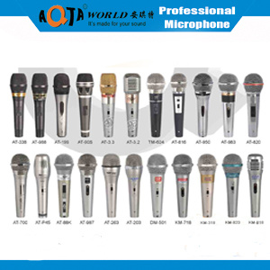 Professional Dynamic Karaoke Wired Microphone with Metal or Plastic Body for Voice
