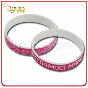 Professional Cheapest Customized Simple Printing Colors Silicon Bracelet pictures & photos