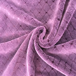 100% Polyester Bright Silk 10 Jacquard Flannel Fabric pictures & photos