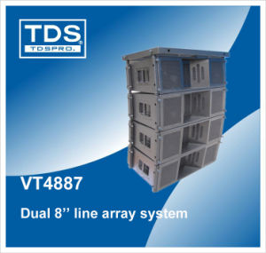 (VT4887) Dual 8inch Three-Way Line Array System with 138db pictures & photos