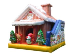 Santa Inflatable Bounce House with Slide Chb748 pictures & photos