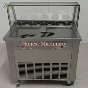 Pan Fried Soft Ice Cream Machine with Panasonic Compressor pictures & photos