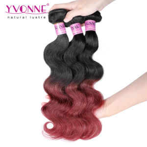 New Arrival Two Tones Ombre Peruvian Human Hair Weave pictures & photos