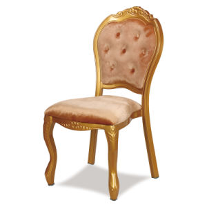2016 Popular Gold Aluminium Banquet Wedding Event Stacking Morocco Louis Restaurant Chairs pictures & photos