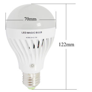 4W 7W Rechargeable LED Emergency Bulb Light with E27 Base pictures & photos