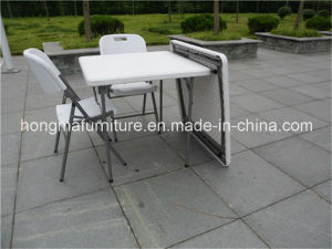 87cm Popular Outdoor Furniture of Plastic Folding Square Table From Chinese Manufacture pictures & photos