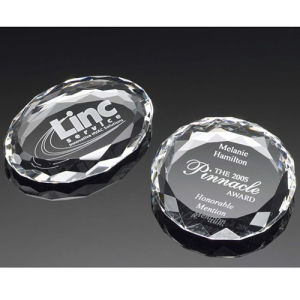 Faceted Circle Oval Ellipse Crystal Paperweight pictures & photos