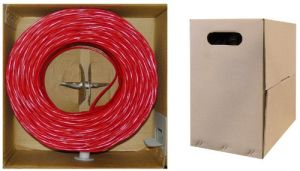 4-Pair 24AWG UTP Pure Copper Cat5e Ethernet Network Cable Red pictures & photos