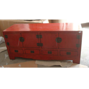 Chinese Antique Furniture Red TV Cabinet TV024 pictures & photos