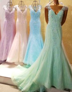 Stock Beading Party Prom Dresses Lace Tulle Wholesale Evening Dress E1825 pictures & photos