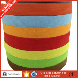 2016 Tailian Wholesale 3.2cm Wide Color Webbing Elastic Tape pictures & photos