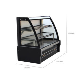 Chest Style Dish Order Display Refrigerator with LED Light pictures & photos