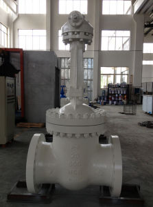 "Gear Operated Cast Steel Gate Valve (Z41H-900LB-10"") pictures & photos"