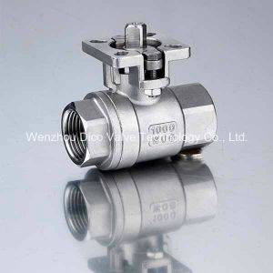 ISO5211 Mounting Pad 2PC Ball Valve with NPT Thread pictures & photos