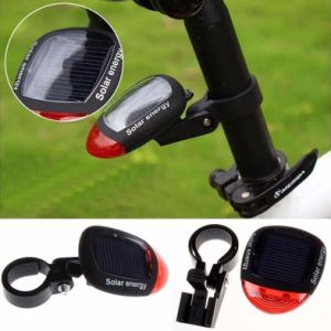 Solar Powered Rechargeable Bike Rear Back Safety Lamp LED Bicycle Tail Light pictures & photos