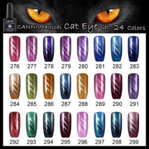 #51023j Wholesaler OEM 7.3ml Canni Nail Art 24 Colors Magic Magnetic Cat Eyes UV Gel Polish