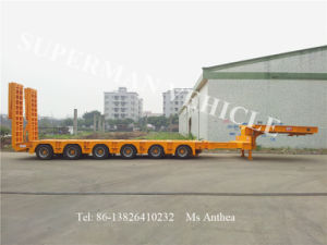 Six Axle Gooseneck Lowbed/ Low Deck /Low Loader Heavy Truck Cargo Trailer pictures & photos