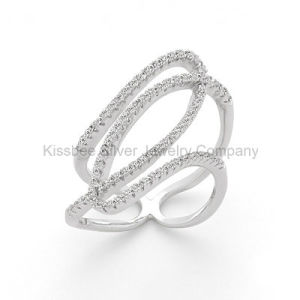 New Design 925 Sterling Silver Jewelry CZ Ring (KR3056) pictures & photos