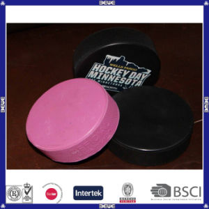 Professional Custom Logo Rubber Ice Hockey Puck pictures & photos