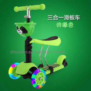 Green Pink Orange Blue Height Adjustment Three Wheel Kids Scooter
