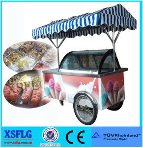 Xsflg Mobile Ice Cream Display / Gelato Tricycle / Ice Cream Vending Cart for Sale (CE) pictures & photos
