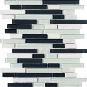 Mosaic Floor Tile Strip Pattern Marble Stone Mosaic pictures & photos