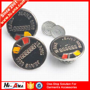 SGS Certification Various Colors Jeans Metal Button pictures & photos