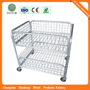 Wholesale Rigid Warehouse Wire Mesh Container pictures & photos