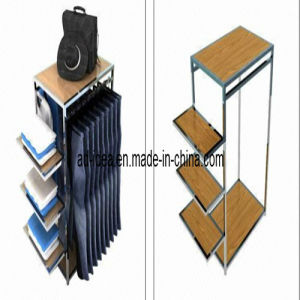 Steel Tube Wooden Display Stand/Shop Display Stand pictures & photos