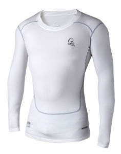Compression Set Fitness Trousers Shirt with Plush for Men (ZRJS201500101) pictures & photos