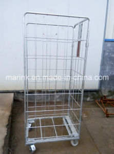 Electro Galvanized Roll Container / Trolley with Wheels pictures & photos