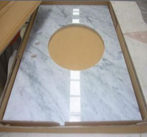 Bianco Carrara Marble Vanity Top in Carton Packing Tile/Slab pictures & photos