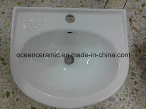(No. P03) Samll Lavabo, Economical Ceramic Sink, Wall Hung Washbasin pictures & photos