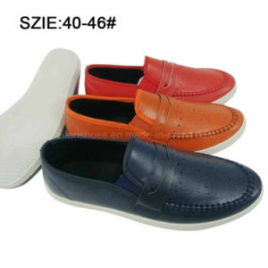 New Style Men′s Slip on Suture Breathable PU Casual Shoes (MP16721-19) pictures & photos