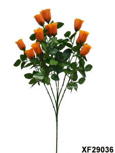Artificial/Plastic/Silk Flower Single Stem of Rosebud with 6 Branches (XF29036) pictures & photos