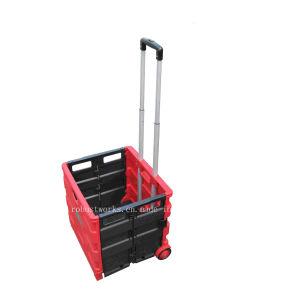Folding Plastic Shopping Cart (FC403C-3) pictures & photos
