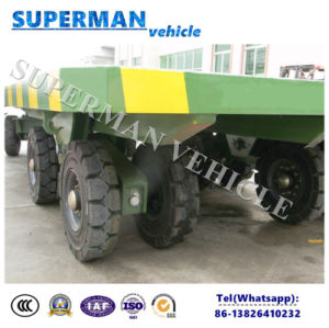 25t Utility Flatbed Cargo Transport Industrial Drawbar Trailer pictures & photos