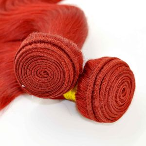 Beautiful Red Color Body Wave Brazilian Human Weft pictures & photos