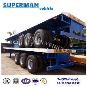 Tri Axle 40FT Truck Flatbed Transport Trailer for Sales pictures & photos