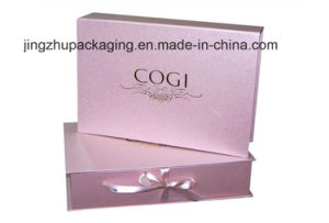 Pink Cosmetic/Gift Paper Packaging with Ribbon pictures & photos