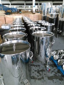 Stainless Steel Wheeled Wine Transfer Barrels pictures & photos