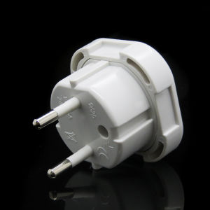 Black White UK to EU Germany 4.0mm/ 4.8mm 2 Pins Travel Adapter Plug Power Socket Converter Plug with Safety Shutter pictures & photos