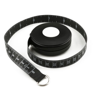 Logo Design 2.5m Round Retractable Waterproof Plastic Tape Measure pictures & photos